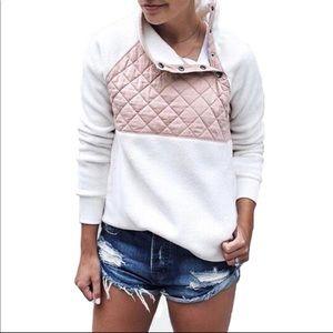 Tops - Boutique snap -T Sherpa Fleece Pullover Sweatshirt